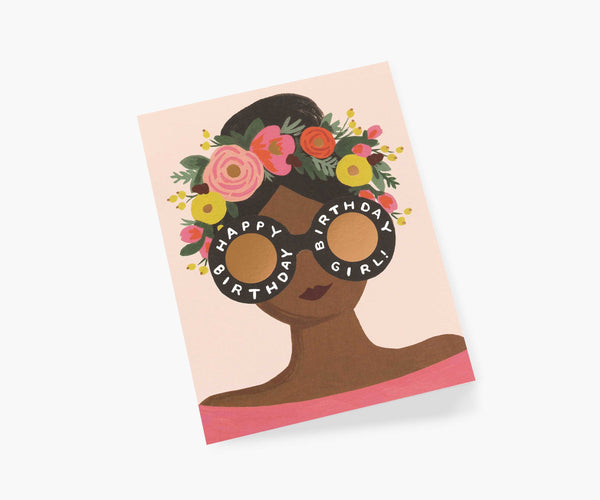 Rifle Paper Co Flower Crown Birthday Girl Card