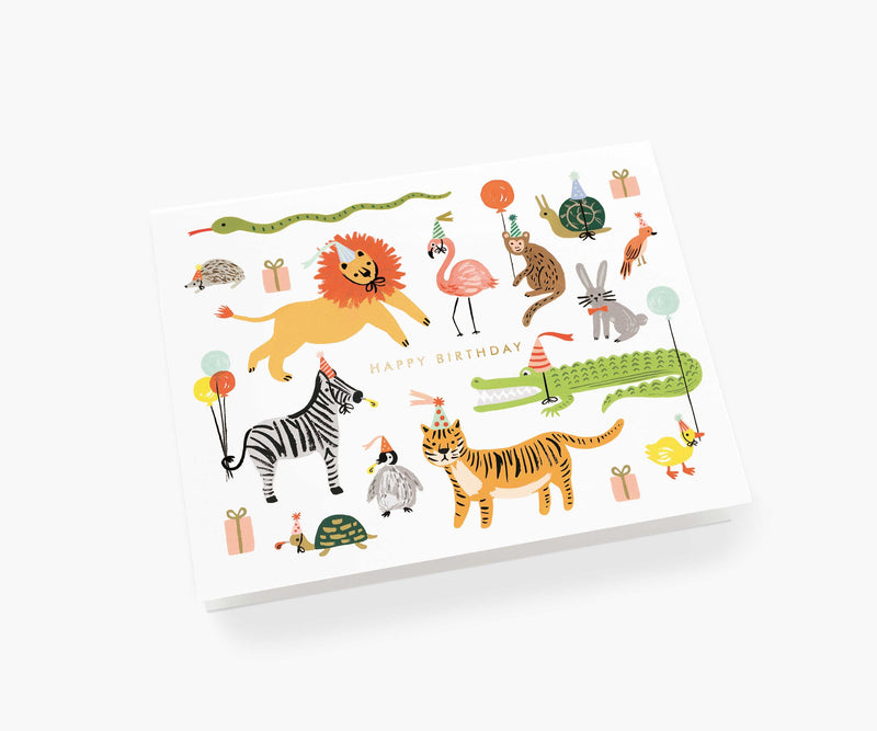 Rifle Paper Co Party Animals Birthday Card