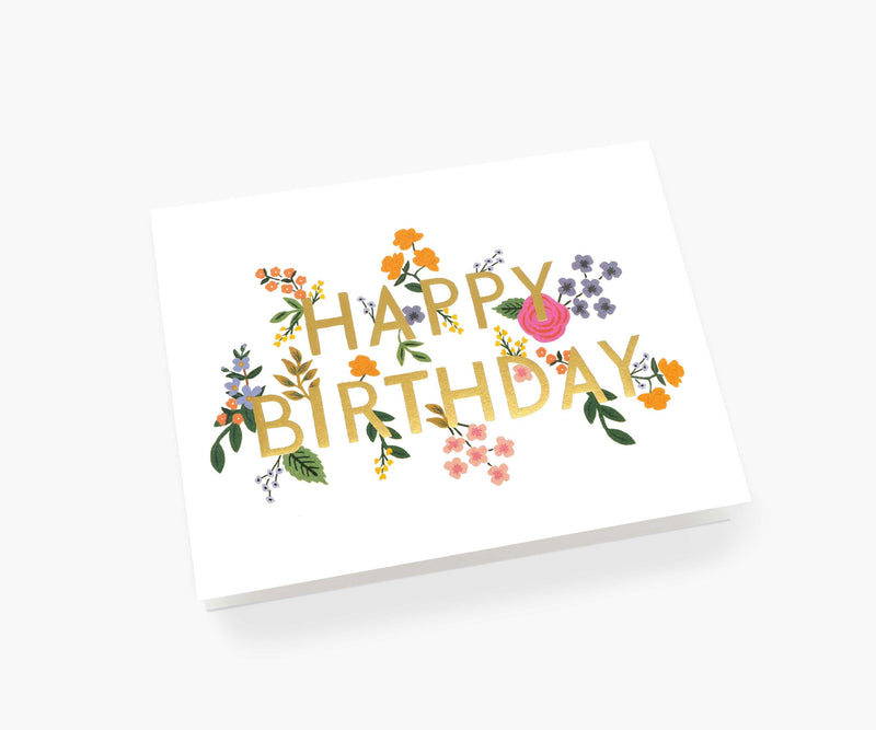 Rifle Paper Co Wildwood Birthday Card