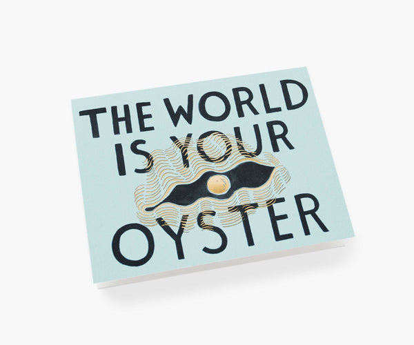 Rifle Paper Co The World is Your Oyster card