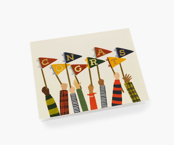 Rifle Paper Co Congrats Pennants Card