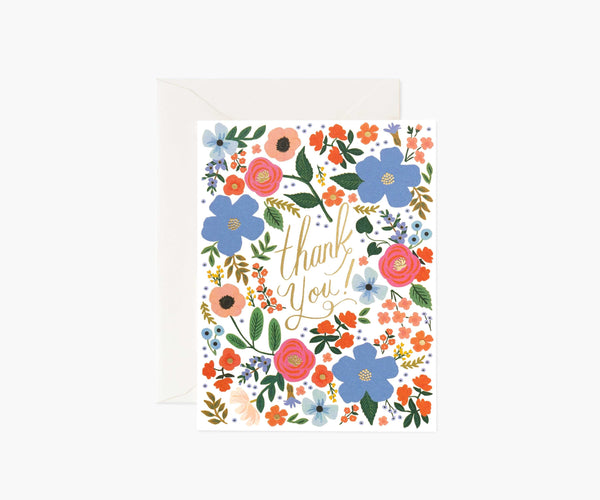Rifle Paper Co Wild Rose Thank You Card