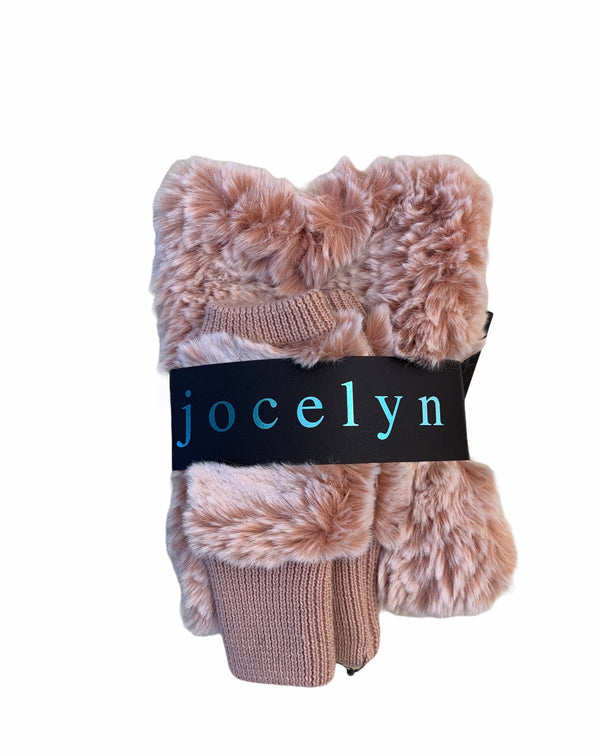 Jocelyn Snowtop Faux Fur Stretch Cowl & Mittens Set