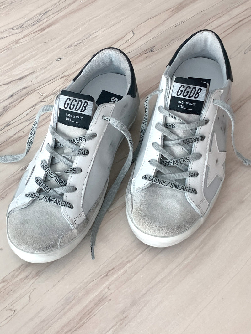 Golden Goose Superstar Leather Upper And Star Suede Toe Ice/Light Grey/White/Black