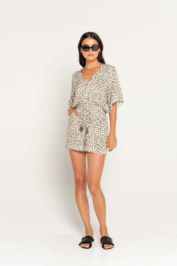 Beachgold Jimmy Playsuit Olive