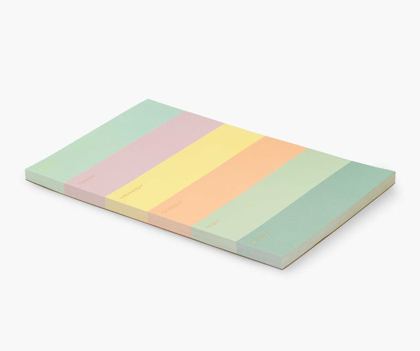 Rifle Paper Co Color Block Weekly Memo Notepad