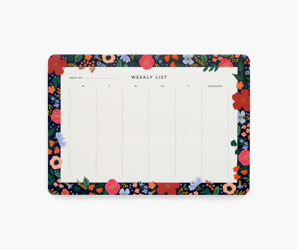 Rifle Paper Co Wild Rose Weekly Desk Pad
