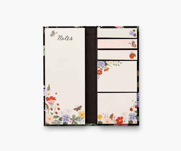 Rifle Paper Strawberry Fields Sticky Note Folio