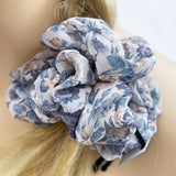 Huge Scrunchie | Purple Floral Hair Scrunchy