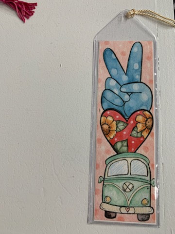 Peace Love Betty VW Bookmark