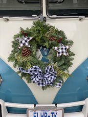 The Denton Apartment Complex Wreath Kit-Black and White Check