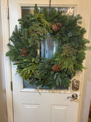 Large Mixed Green Wreath