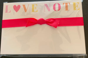 Big & Bold Love Note Notepad