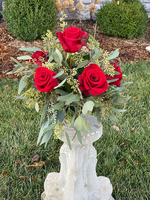 Farmhouse Red Rose Centerpiece