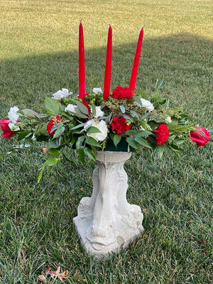 Holiday Centerpiece with 3 Candles (2 Sizes available)