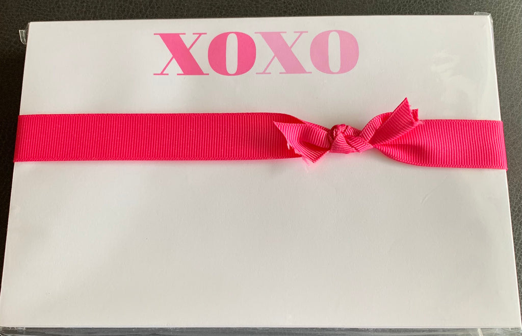 XOXO Notebook with Pink Ribbon