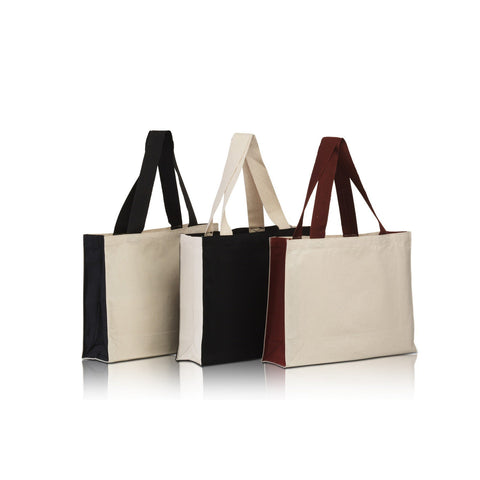 Black Canvas Tote Bags Bulk