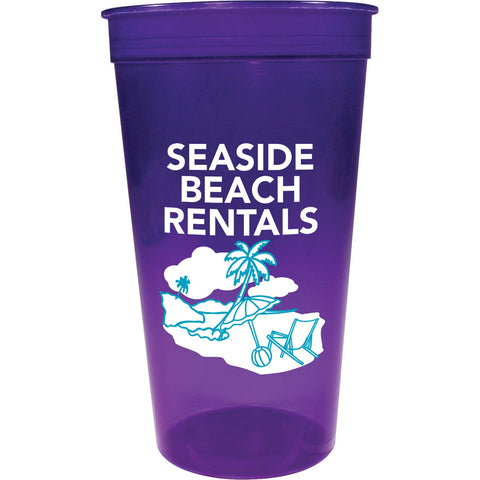 Personalized Plastic Stadium Cups