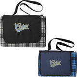 Extra Large Plaid Picnic Blanket Tote 1081-41