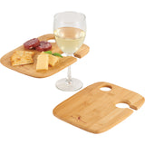 Bamboo 2-Piece Wine Plate Set 1401-26