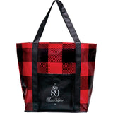 Buffalo Plaid Laminated Shopper Tote 2160-22