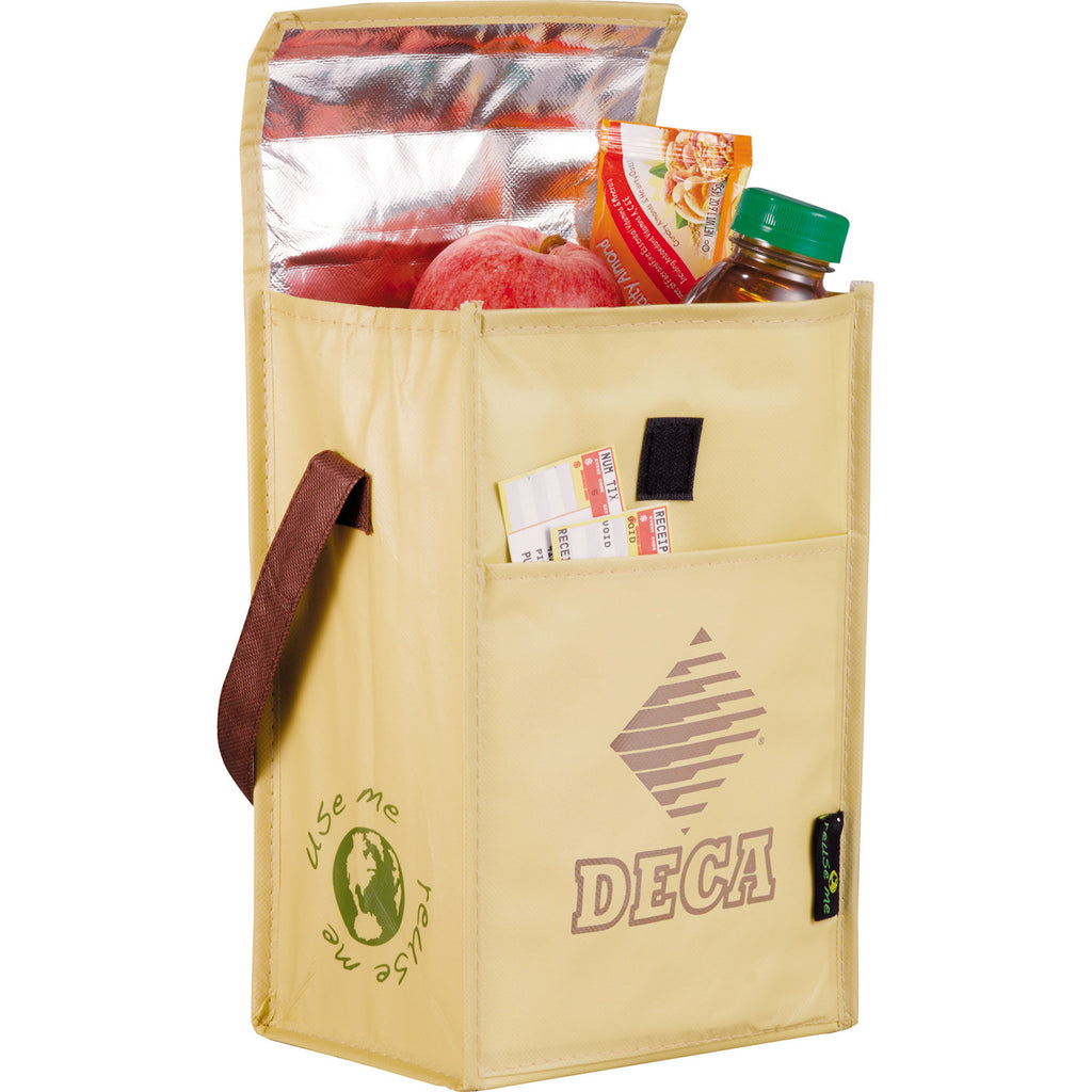 Laminated Non-Woven Brown Baggin' It Lunch Bag 2160-55