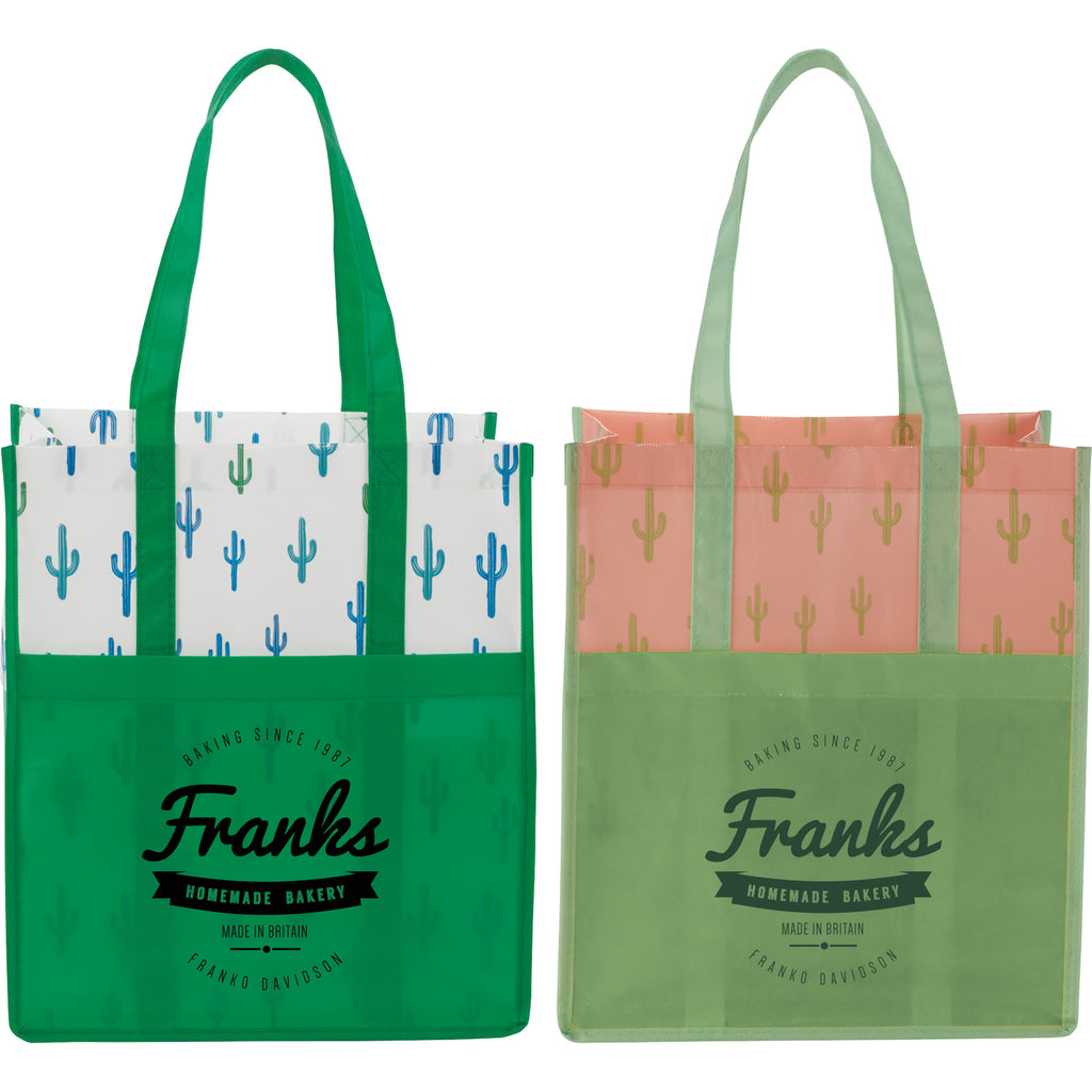 Cactus Laminated Shopper Tote 2160-84