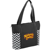 Geometric Zippered Business Tote 2301-24