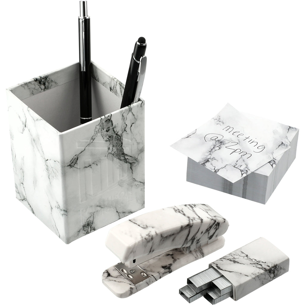 5 Piece Faux Marble Desktop Set 3002-39