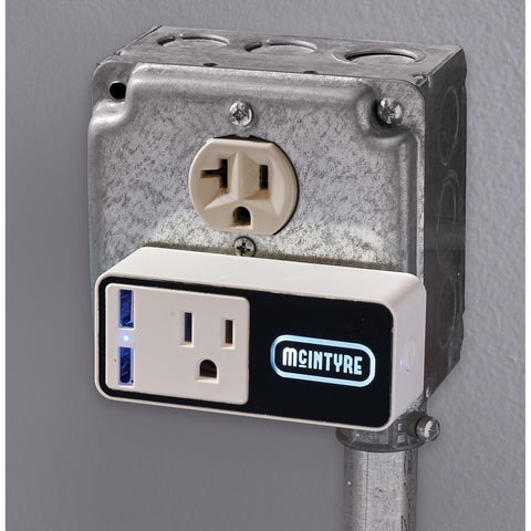 Light Up Logo Wifi Smart Plug With Usb Output 7141-46