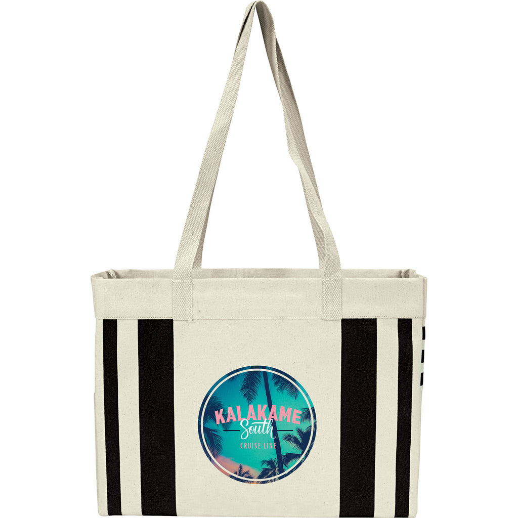 Fletcher 16Oz Cotton Canvas Striped Tote 7900-17