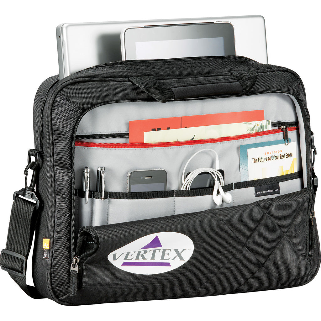 "Case Logic Cross-Hatch 17"" Computer Briefcase 8150-93"