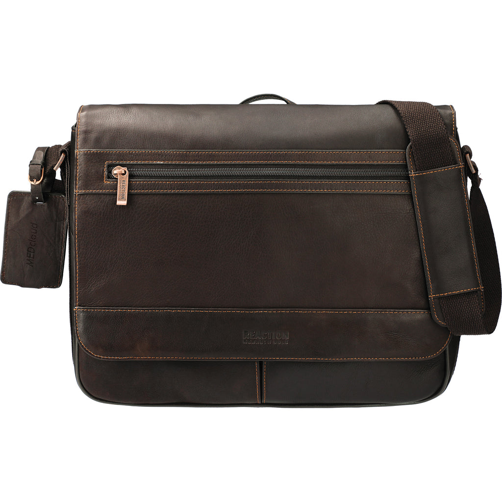 Kenneth Cole Colombian Leather Computer Messenger 9950-34