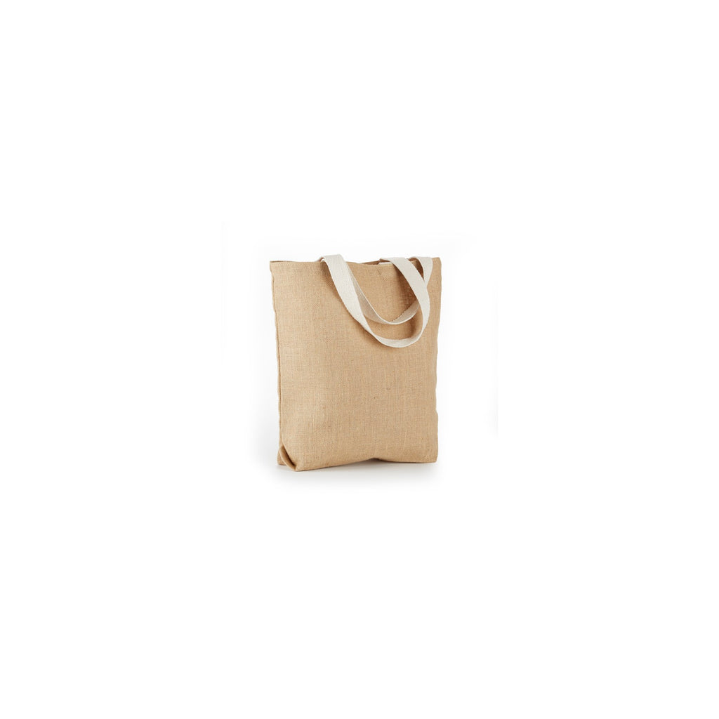 Jute - All Natural Basic Burlap Tote Bag With Bottom Gusset And Cotton Web Handles JB904