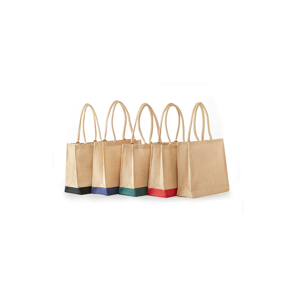 Jute - All Natural Economy Burlap Tote With Rope Handles JB908