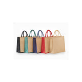 Jute - All Natural Burlap Grocery Tote With Rope Handles JB913