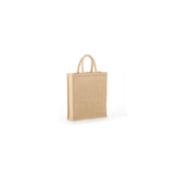Jute - Three Bottle Clear & Solid Front Burlap Wine Bag JBWB3