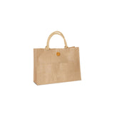 Jute - Burlap Fancy Shopping Bag With Front Button Closure JC0102