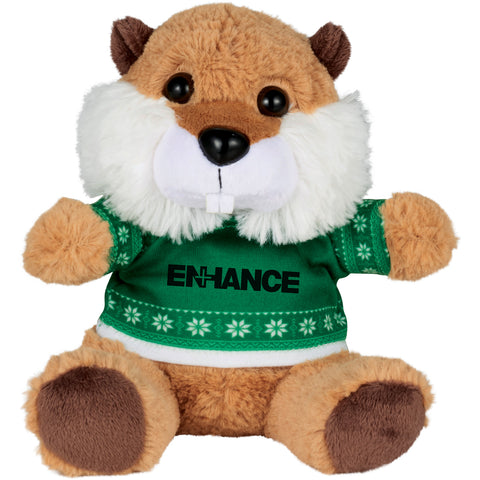 "6"" Ugly Sweater Plush Beaver SM-2181"