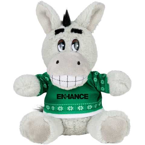 "6"" Ugly Sweater Plush Donkey SM-2183"