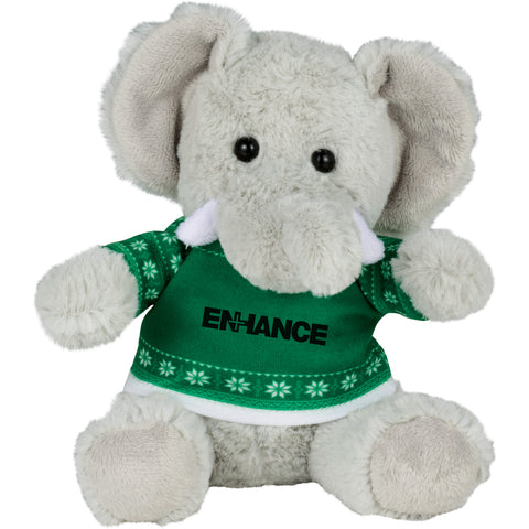 "6"" Ugly Sweater Plush Elephant SM-2184"