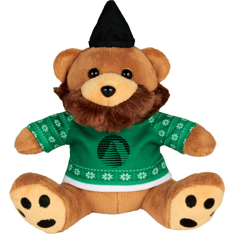 "6"" Ugly Sweater Hipster Plush Bear SM-2185"