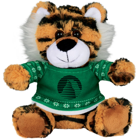 "6"" Ugly Sweater Plush Tiger SM-2186"