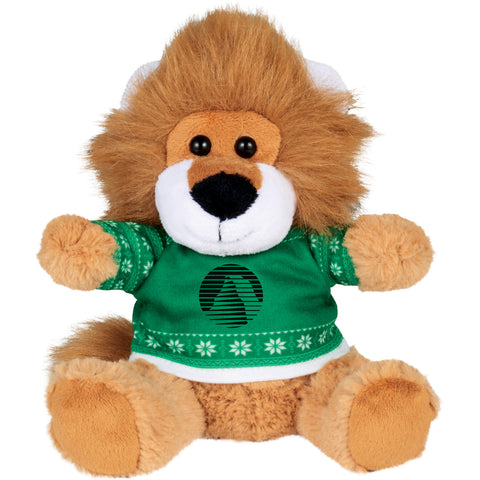 "6"" Ugly Sweater Plush Lion SM-2189"