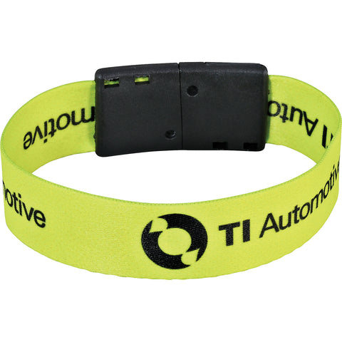 "Full Color 3/4"" Wristband W/ Clip SM-8163"