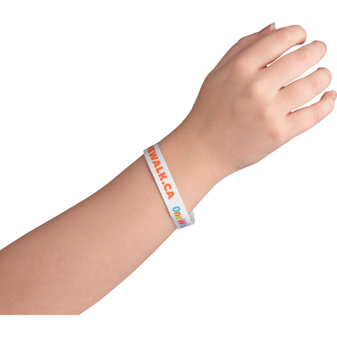 "Full Color 1/2"" Wristband W/ Clip SM-8164"