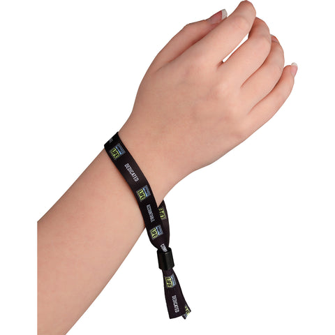"Full Color 1/2"" Wristband W/ Slide Clip SM-8174"