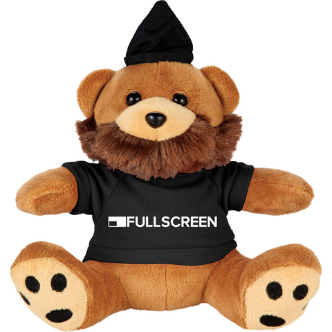 "6"" Hipster Plush Bear With Shirt SM-8512"