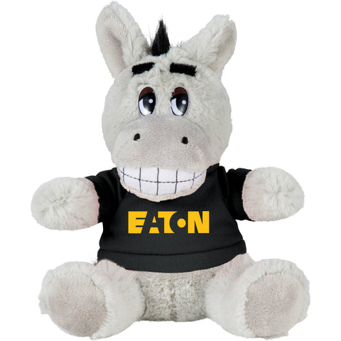"6"" Plush Donkey With Shirt SM-8519"
