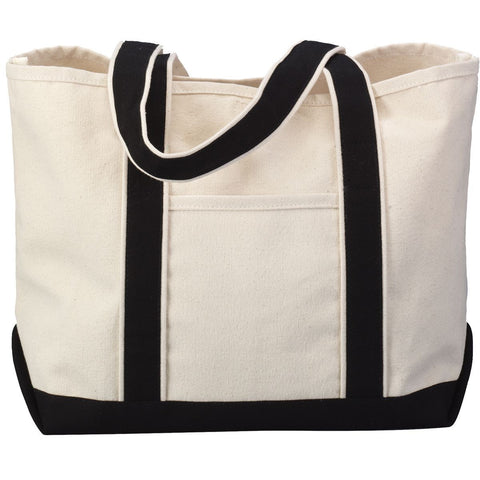 13.7L Beach Tote - Classic Boat Bag with Natural Body and Contrasting Accent Colors TF1258